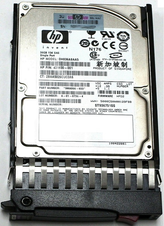 HPE Refurbished 430169-001 36GB 15K SAS 3Gbps 2.5