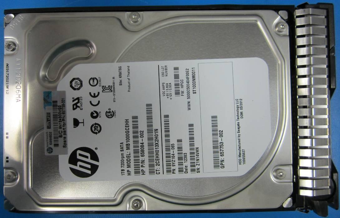 Hard Drive HP HPE 843266-B21 HP 1 TB 3.5 1 TB HPE Entry SATA 6Gb//s