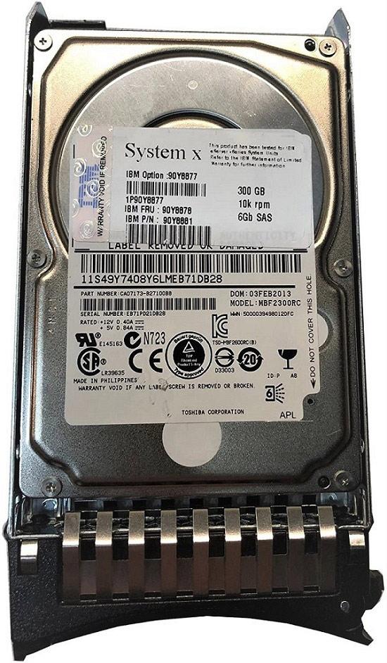 xseries Storage 49y1856 300gb SAS 15000 RPM 6gb 3.5in HDD IBM