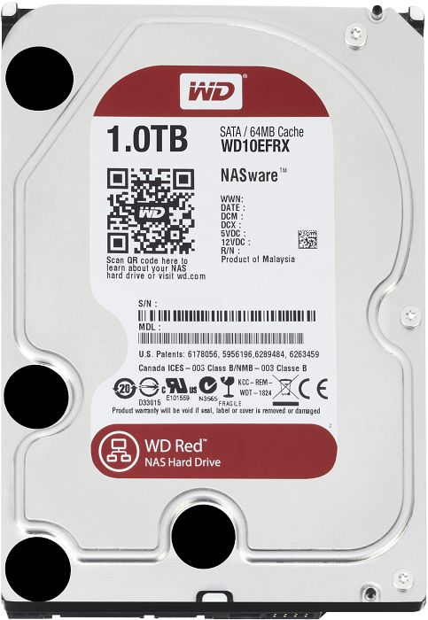 WD Red WD10EFRX 1TB Intellipower 64MB Cache SATA 6Gbps 3.5