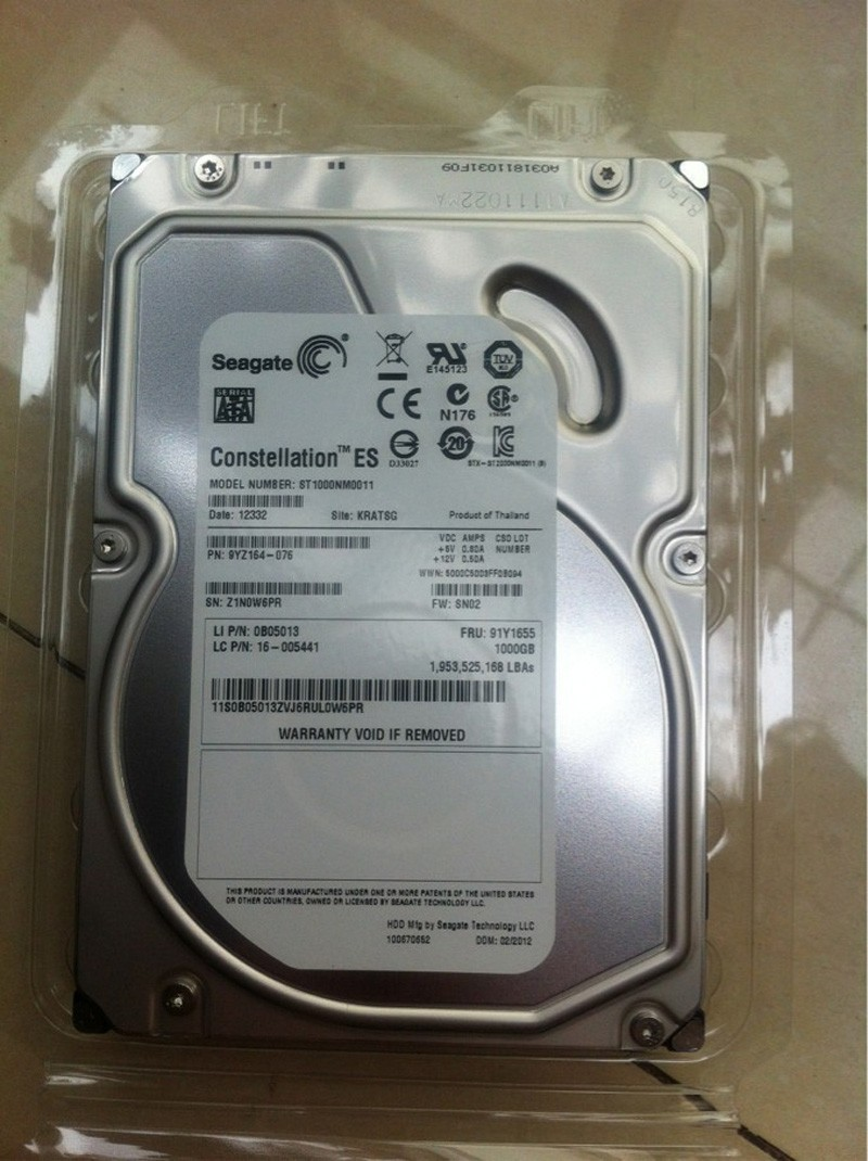 Seagate Constellation ES ST1000NM0011 1TB 7.2K SATA 6Gb/S 3.5