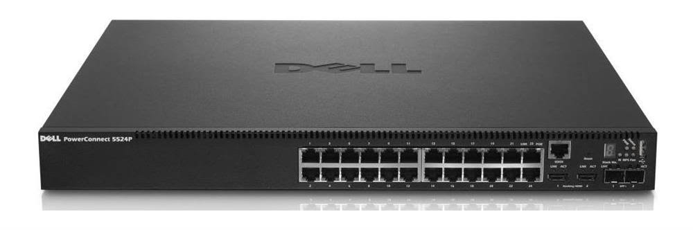Dell Powerconnect 5524p 24 Port 10gbe Poe L2 Managed Switch