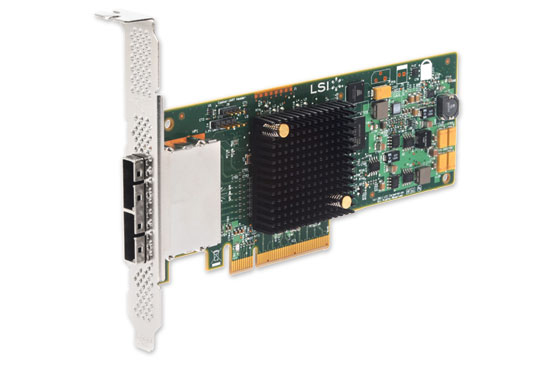 LSI 9207-8E 6GB/s 8-Port Ext PCIe 3.0 SAS/SATA Host Bus Adapter