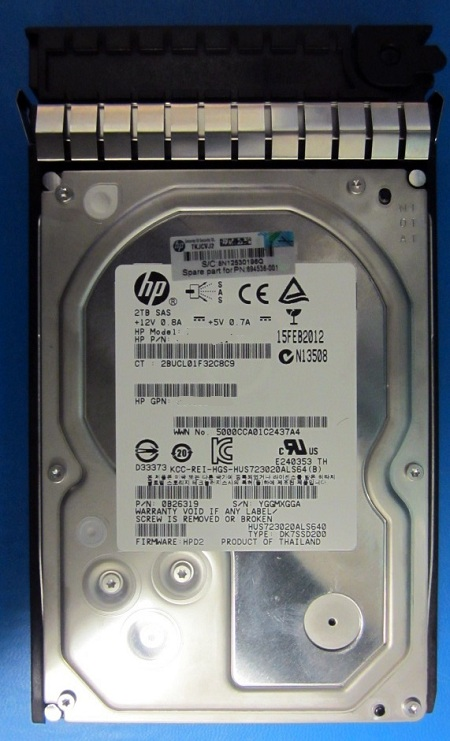 3.5 LFF SAS-2-7200 rpm 2 TB hot-swap HP Dual Port Midline Hard drive