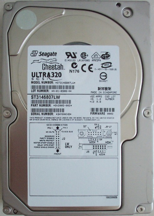 Seagate Cheetah ST3146807LW 146GB 10K RPM Ultra320 SCSI 3.5