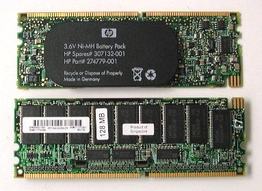 HP 309521-001 128MB 3.6v BBWC Battery-Memory Cache Module