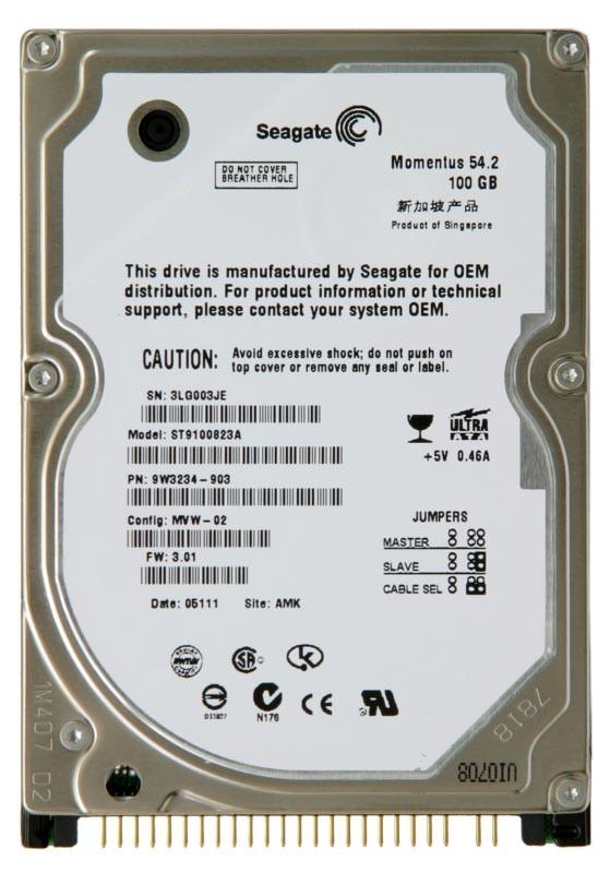 Seagate Momentus ST9100823A 100GB 5400RPM IDE ULTRA ATA100 25